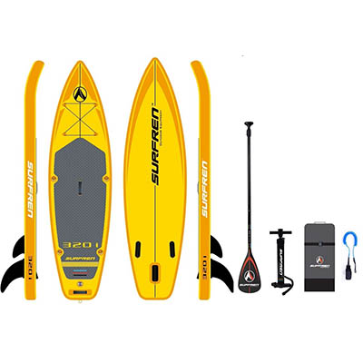 SUPFREN 320*81*15CM inflatable surfboard stand up paddle board inflatable surf board sup paddle boat 320i kayak boat
